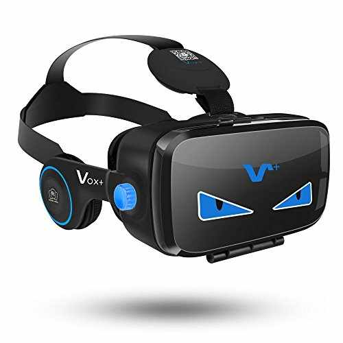 Vox Fe Vr Headset 3d Movie And Game Virtual Reality Headset With Headphones Play At Samsung Galaxy Series And Iphone 6s Series 2017 Dustproof Edition